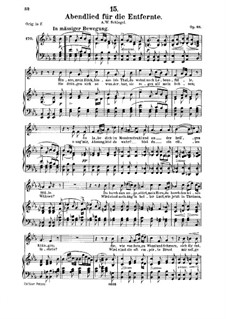 Abendlied für die Entfernte (Evening Song for the Distant Beloved), D.856 Op.88 No.1: para voz media e piano by Franz Schubert