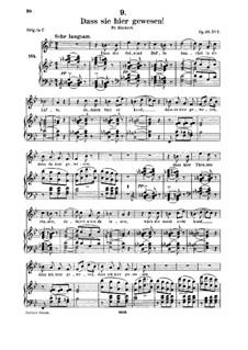 Dass sie hier gewesen, D.775 Op.59 No.2: para voz media e piano by Franz Schubert