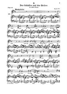 Der Schäfer und der Reiter (The Shepherd and the Horseman), D.517 Op.13 No.1: para voz media e piano by Franz Schubert