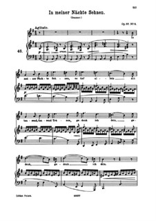 Eight Songs, Op.57: No.5 In My Nights I Yearn by Johannes Brahms