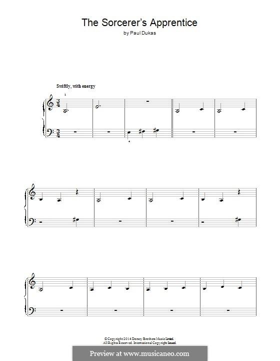 L'apprenti sorcier (The Sorcerer's Apprentice): Para Piano by Paul Dukas