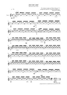 Ricercare: Ricercare, Op.34 No.1 by Unknown (works before 1850)