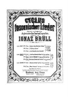 Zyklus Toskanischer Lieder, Op.22: Nr.4 Liebe Rose, Blume der Rosen by Ignaz Brüll