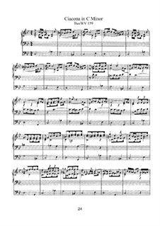 Chaconne in C Minor, BuxWV 159: para orgãos by Dietrich Buxtehude