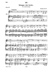 Stimme der Liebe (Voice of Love), D.412: para voz media e piano by Franz Schubert