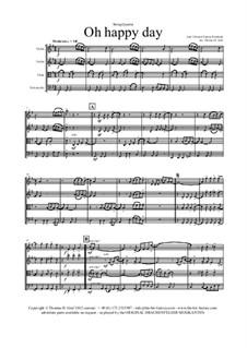 Oh happy day: para quartetos de cordas by folklore, Edward Francis Rimbault
