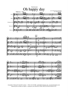 Oh happy day: For wind quintet by folklore, Edward Francis Rimbault