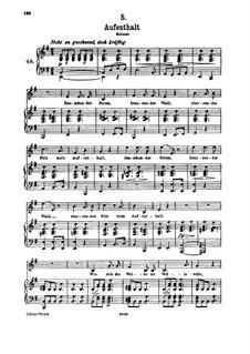 No.5 Aufenthalt (Dwelling Place): para voz alta e piano by Franz Schubert