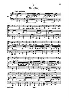 No.8 Der Atlas (Atlas): para voz alta e piano by Franz Schubert