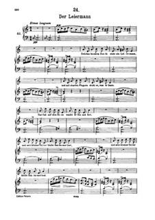 No.24 Der Leiermann (The Organ Grinder): para voz alta e piano by Franz Schubert