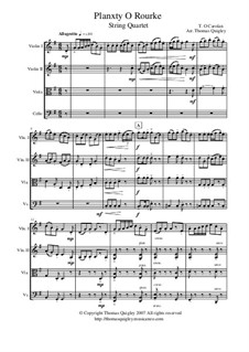 Planxty O Rourke (String Quartet): Planxty O Rourke (String Quartet) by Turlough O'Carolan