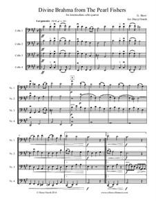 Divine Brahma Chorus: Arranged for intermediate cello quartet (four cellos) by Georges Bizet