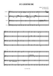 St. Gertrude: para quartetos de cordas by Arthur Seymour Sullivan