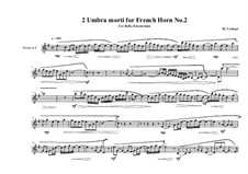 2 Umbra morti for French Horn: No.2, MVWV 782 by Maurice Verheul