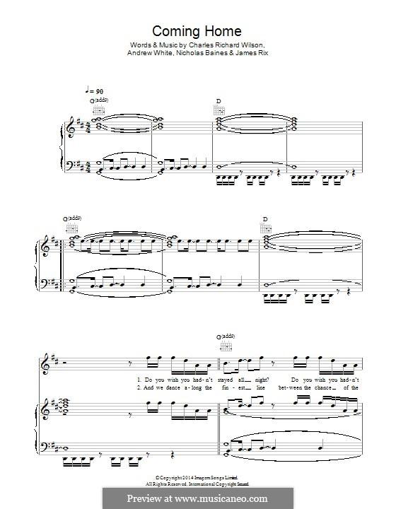 Coming Home (Kaiser Chiefs): Para vocais e piano (ou Guitarra) by Andrew White, James Rix, Nicholas Baines, Charles Wilson