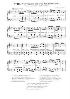 Akt III, Nr.14 Wir winden dir den Jungfernkranz: Partitura piano-vocal by Carl Maria von Weber