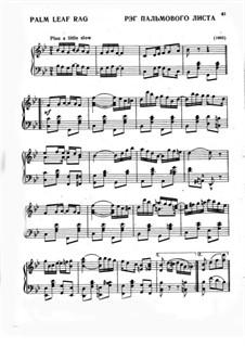 Palm Leaf Rag: Para Piano by Scott Joplin