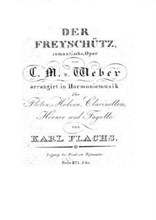 Overture: para instrumentos de vento by Carl Maria von Weber