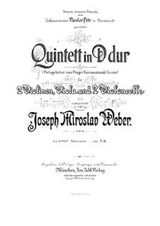 String Quintet in D Major: Violin I by Joseph Miroslav Weber