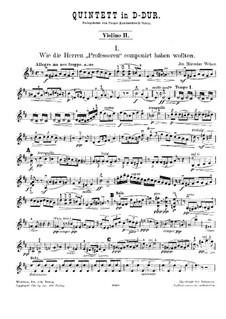 String Quintet in D Major: violino parte II by Joseph Miroslav Weber