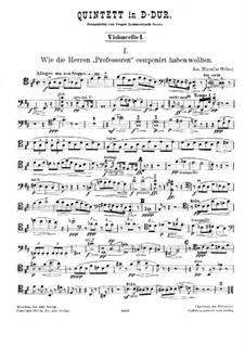 String Quintet in D Major: violoncelo parte I by Joseph Miroslav Weber