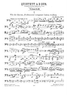 String Quintet in D Major: Cello II by Joseph Miroslav Weber