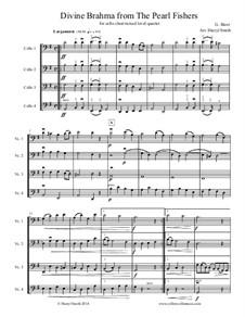 Divine Brahma Chorus: Arranged for mixed-level cello quartet (four cellos), cello choir, cello ensemble by Georges Bizet