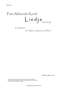 Liedje - Song composed for VSB Poetry Festival - Composers Competition: Liedje - Song composed for VSB Poetry Festival - Composers Competition by Piotr Aleksander Korab