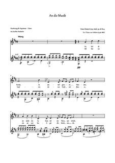 An die Musik (To Music), D.547 Op.88 No.4: para voz e guitarra by Franz Schubert