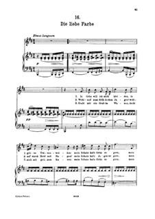 No.16 Die liebe Farbe (The Beloved Colour): para voz alta e piano by Franz Schubert