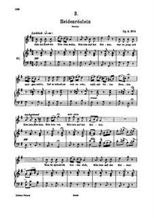 Heidenröslein (Little Hedge Rose), D.257 Op.3 No.3: para voz alta e piano by Franz Schubert