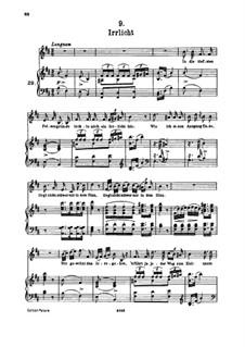 No.9 Irrlicht (Will o' the Wisp): para voz alta e piano by Franz Schubert