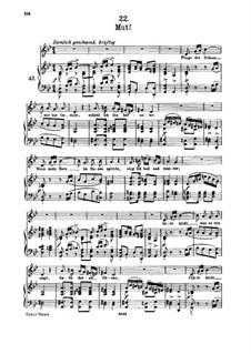 No.22 Mut (Courage): para voz alta e piano by Franz Schubert