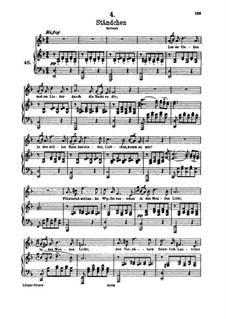 No.4 Ständchen (Serenade): para voz alta e piano by Franz Schubert