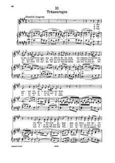 No.10 Thränenregen (Shower of Tears): para voz alta e piano by Franz Schubert