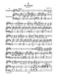 Am Strome (By the River), D.539 Op.8 No.4: para voz alta e piano by Franz Schubert