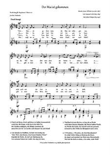 Der Mai ist gekommen: Der Mai ist gekommen by Justus Wilhelm Lyra