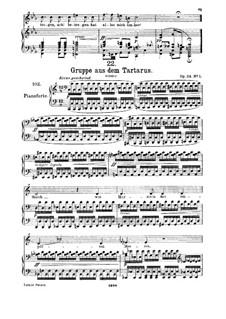 Gruppe aus dem Tartarus (Group from Hades), D.583 Op.24 No.1: para voz alta e piano by Franz Schubert