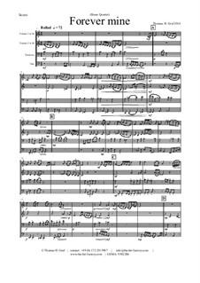Forever Mine. Waltz: para quarteto de bronze by Thomas Hans Graf