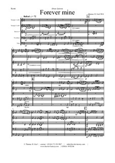 Forever Mine. Waltz: Para quinteto de metais by Thomas Hans Graf