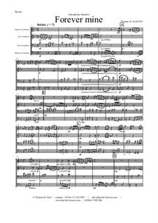 Forever Mine. Waltz: para quarteto de saxofone by Thomas Hans Graf