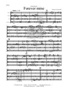 Forever Mine. Waltz: para quartetos de cordas by Thomas Hans Graf