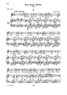 Romances and Ballades, Op.53: No.3 Der arme Peter (Poor Peter), Movement I by Robert Schumann