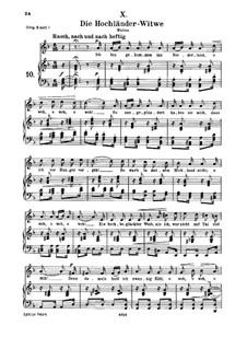 No.10 Die Hochländer-Witwe (Highland Widow's): para voz media e piano by Robert Schumann