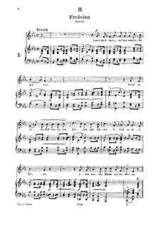 No.2 Freisinn (Laissez-moi gaiement monter en selle): para voz media e piano by Robert Schumann