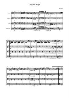 Original Rags: para quartetos de cordas by Scott Joplin