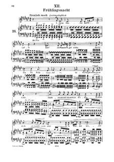 No.12 Frühlingsnacht (Spring Night): para voz media e piano by Robert Schumann