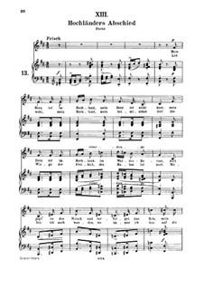 No.13 Hochländers Abschied (My Heart's in the Highlands): para voz media e piano by Robert Schumann