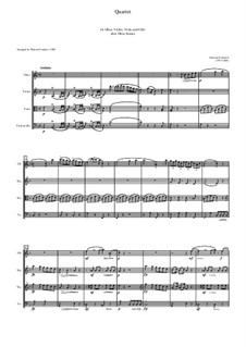 Oboe quartet after Sonata for Oboe: partitura by Gaetano Donizetti