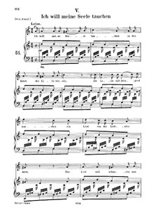 No.5 I Want to Bathe My Soul in the Chalice of the Lily: para voz media e piano by Robert Schumann
